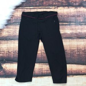 Black with Pink Workout Capris